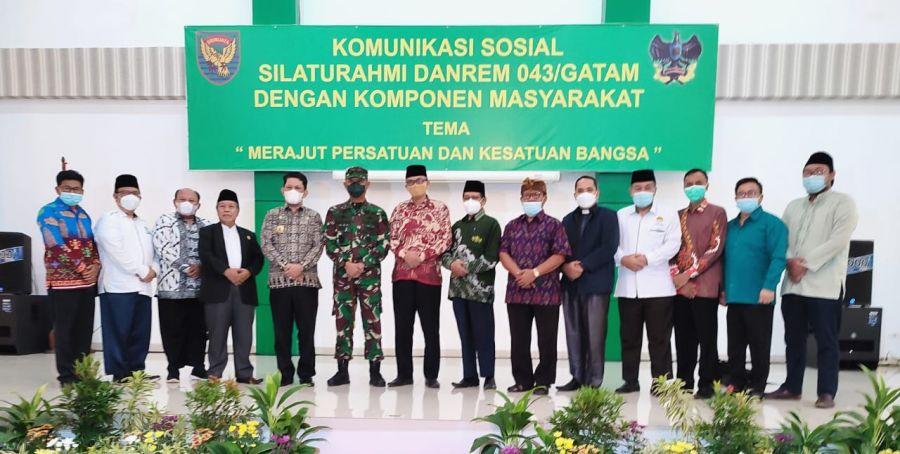 DPW LDII Provinsi Lampung Hadiri Silaturrohim Dengan Danrem 043 Gatam Lampung