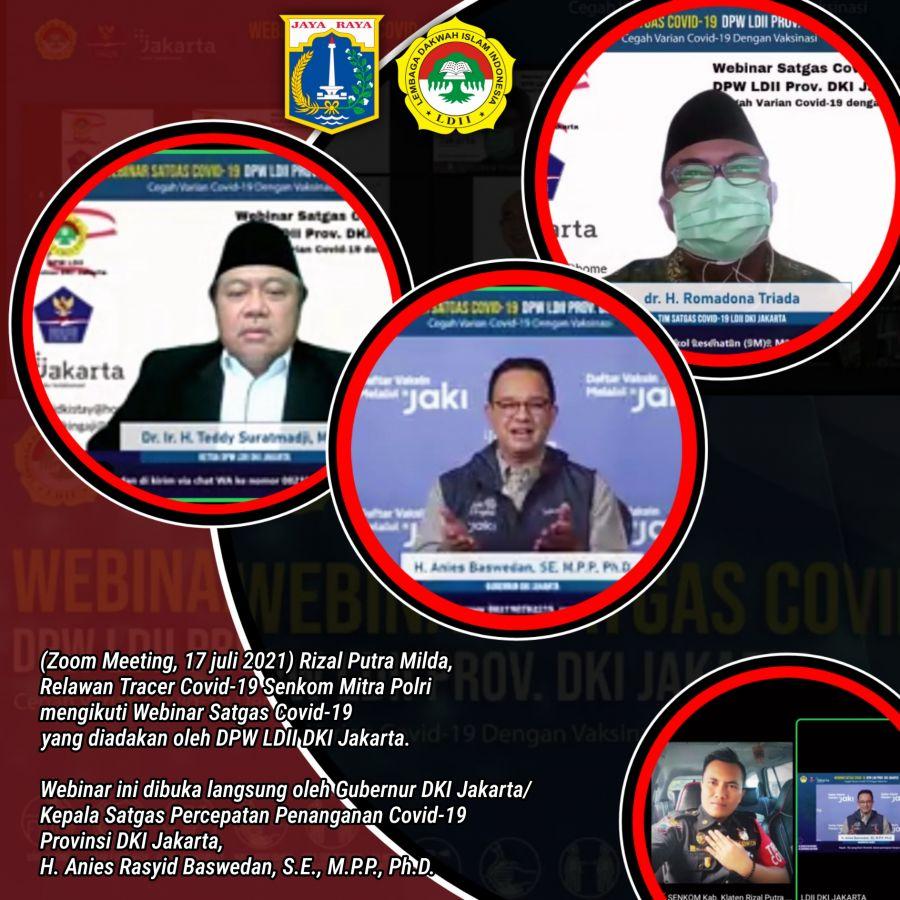 Hadiri Webinar LDII DKI Jakarta, Anies: Tidak Hanya Gelar Vaksinasi, Edukasi Publik Juga Penting