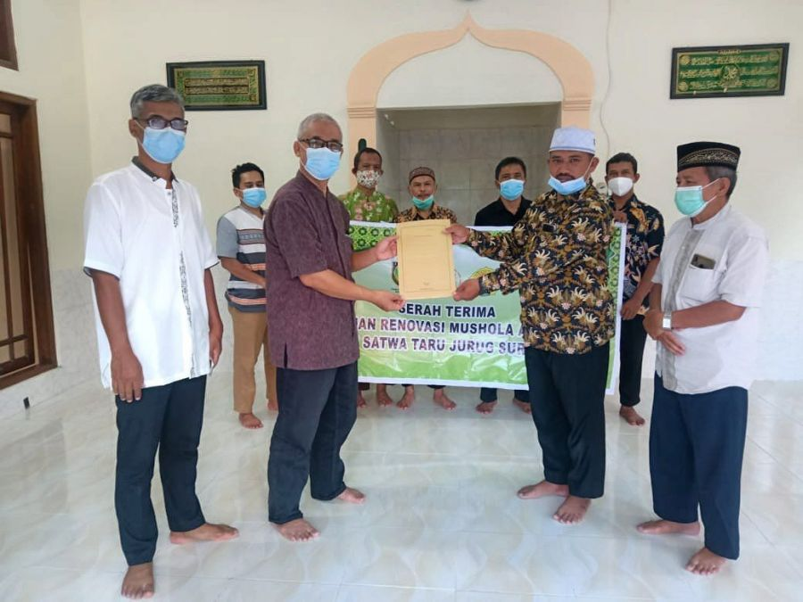 PC LDII Kec. Jebres Kota Surakarta Salurkan Bantuan Renovasi Mushola Al Amin Taman wisata Satwa Taru