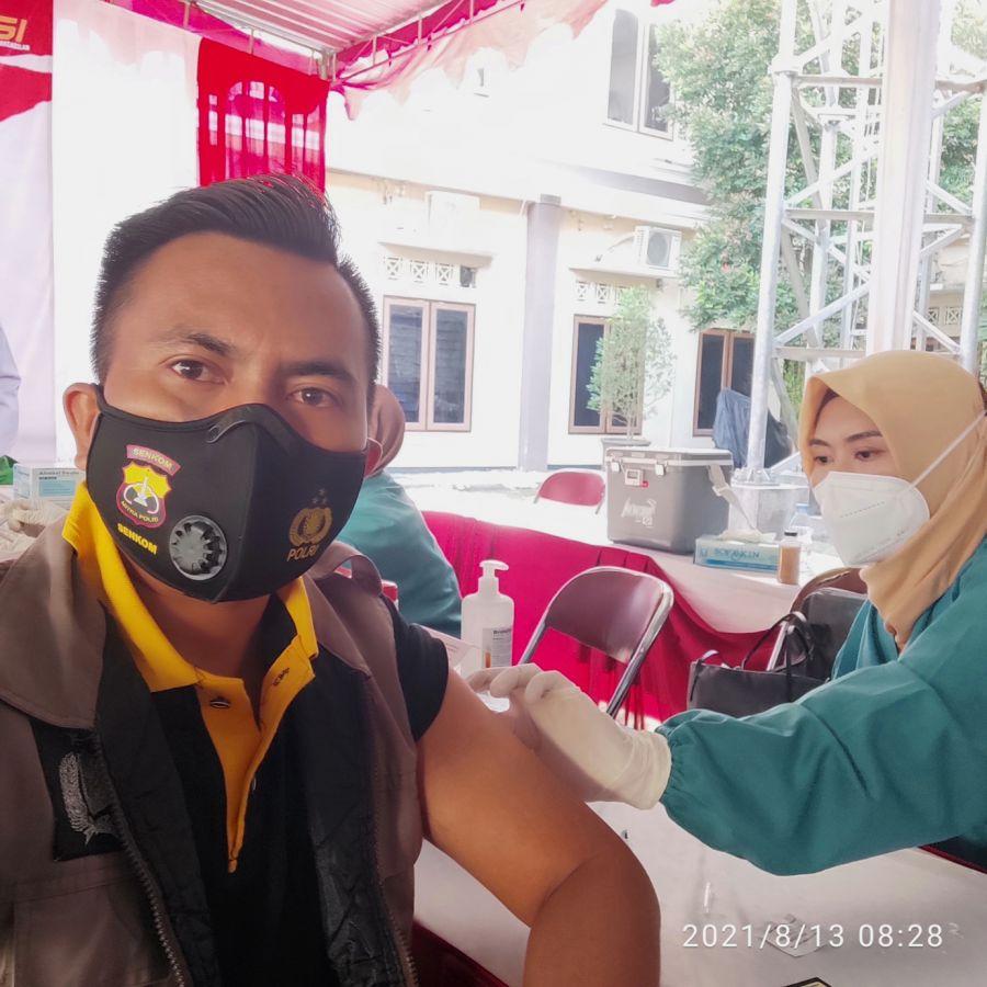 Senkom Mitra Polri Klaten Berperan Aktif Dalam Vaksinasi Presisi Merdeka Candi Polres Klaten