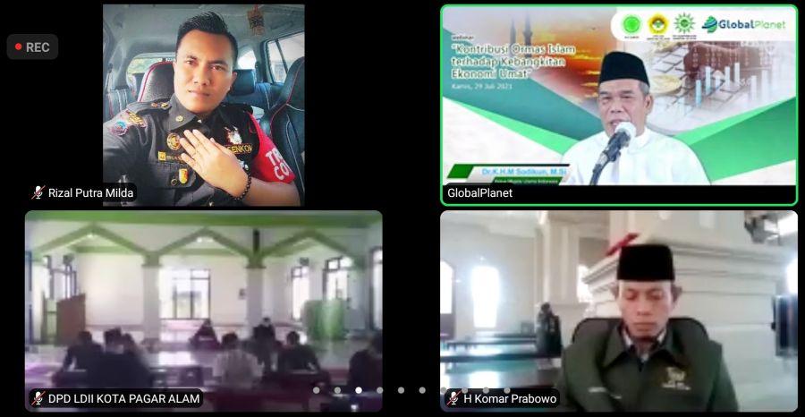 DPW LDII Sumsel Gelar Webinar Peran Ormas Islam terhadap Kebangkitan Ekonomi Umat