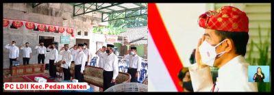 PC LDII Pedan Ikuti Upacara HUT RI ke-76 Secara Live Dengan Presiden Jokowi