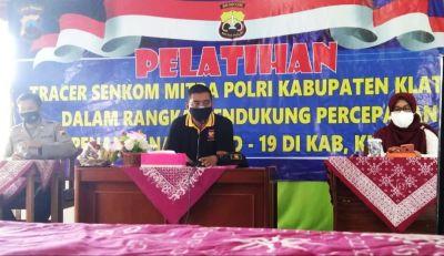 Polres Klaten Gandeng Senkom Mitra Polri Dalam Pelatihan Tracer Covid-19