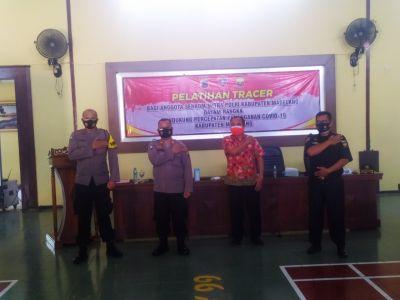 PPKM Darurat, Polres Magelang Bekali Senkom Pelatihan Tracer