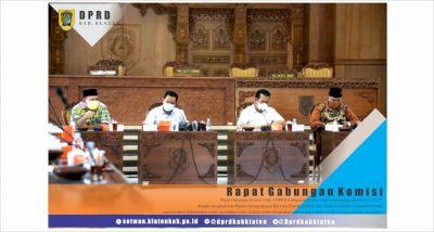 Rapat Gabungan Komisi 3 dan 4 DPRD Kabupaten Klaten Terkait Pandemi Covid 19